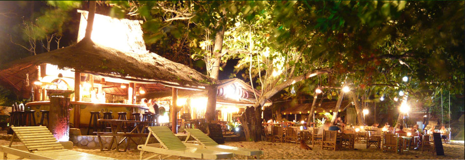 Beach Restaurant at Night